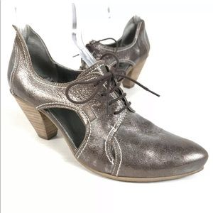 Fidji Women Granny Lace Up Leather Lace Up Oxford